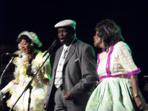Al Johnson with one of the Baby Doll dancers and Tee-Eva