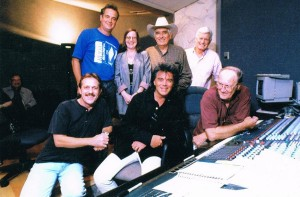 Sullivan, Marty Stuart and others, working on the soundtrack for Hi-Lo Country (photo: Sullivan Family Collection)