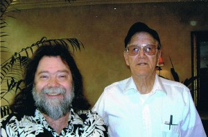 Sullivan with 13th Floor Elevators singer Roky Erickson (photo: Sullivan family collection)