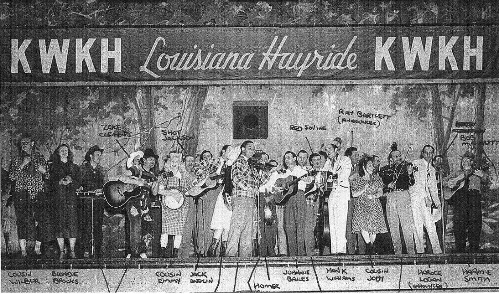 Cast of The Louisiana Hayride, circa 1952. (photo: Louisiana State University Shreveport archives)