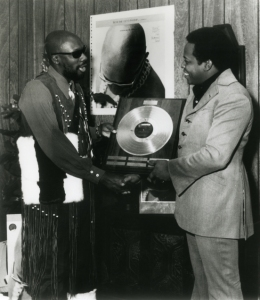 Isaac Hayes with David Potter.