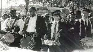 Traditional jazz funeral, for musician Danny Baker (photo: infrogmation)