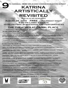 Poster for the 9th Annual Katrina Artistically Revisited.