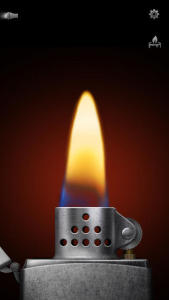 "iHandy's ""Virtual Lighter"" app for iPhone"