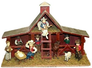 A cowboy nativity set (We couldn't find the artist/retailer, but if you know -- please drop us a line!)